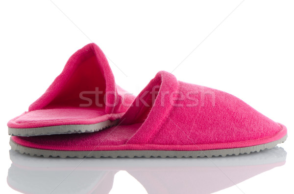 A pair of pink slippers Stock photo © homydesign