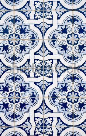 Portuguese glazed ceramic tiles Stock photo © homydesign