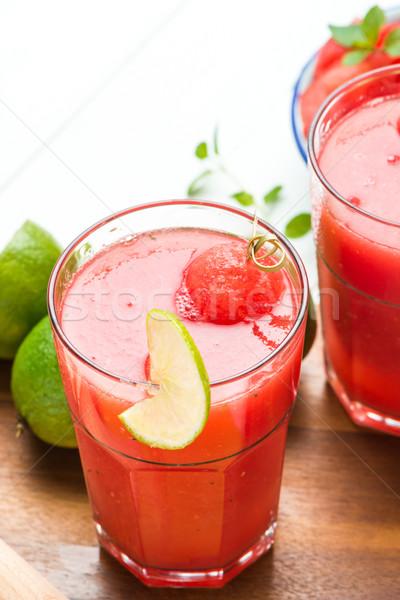Watermelon smoothies Stock photo © homydesign