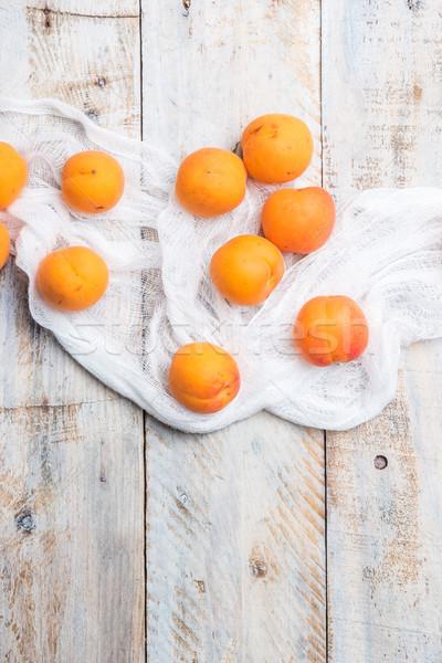 Fresh apricots Stock photo © homydesign
