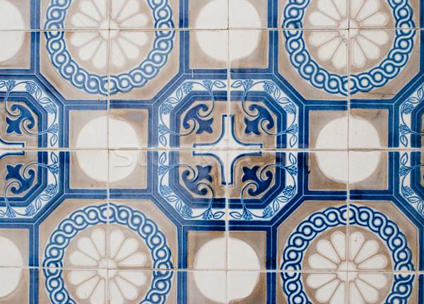 Geleneksel fayans detay sanat zemin duvar kağıdı Stok fotoğraf © homydesign