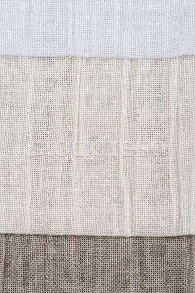 Stock photo: Beige canvas texture