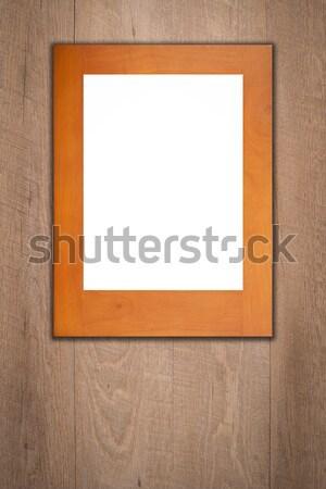 Eski resim çerçevesi bağbozumu ahşap duvar doku Stok fotoğraf © homydesign