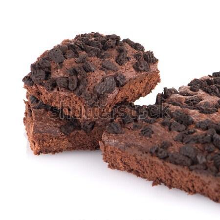 Stockfoto: Chocolade · dessert · witte · voedsel · glas · koken