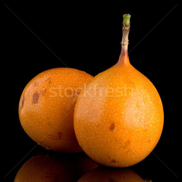 Pasión frutas alimentos fondo naranja tropicales Foto stock © homydesign