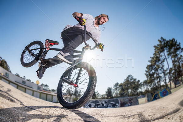 BMX Bike Stunt Stock photo © homydesign