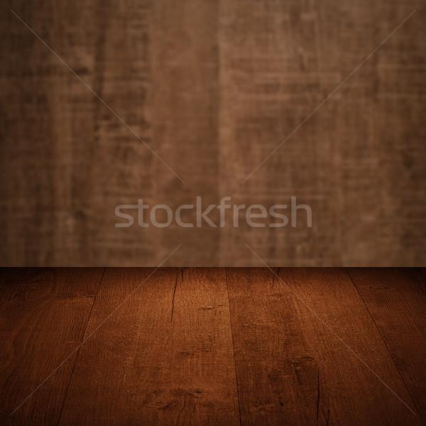 Hout tabel houten muur textuur ontwerp Stockfoto © homydesign