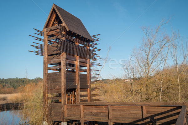 Bird observation tower Stock photo © homydesign