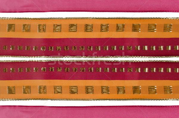 Christmas ribbon frame Stock photo © homydesign