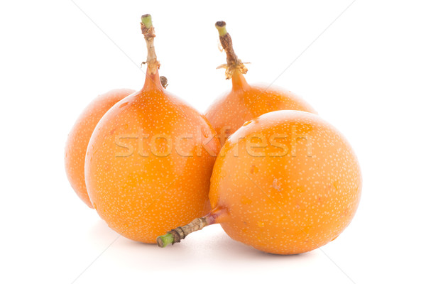 Passion fruits alimentaire groupe tropicales jaune Photo stock © homydesign