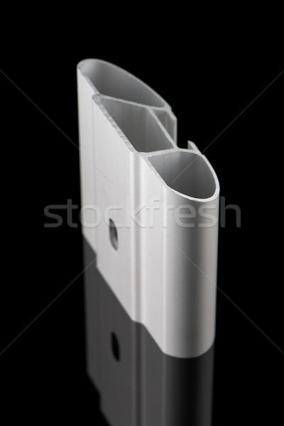 алюминий профиль образец изолированный черный дома Сток-фото © homydesign