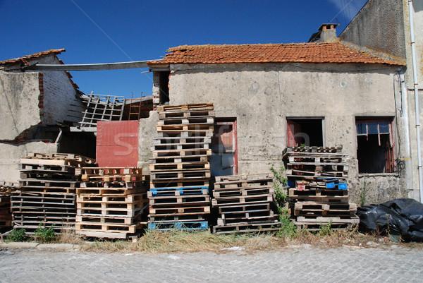 Abandoned store house Stock photo © homydesign
