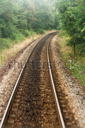 Stock photo: Railroad track, train point of view