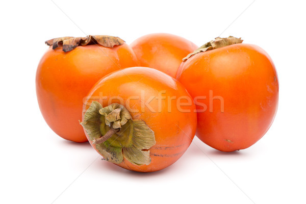 ストックフォト: 柿 · 果物 · 白 · ツリー · 食品 · 自然