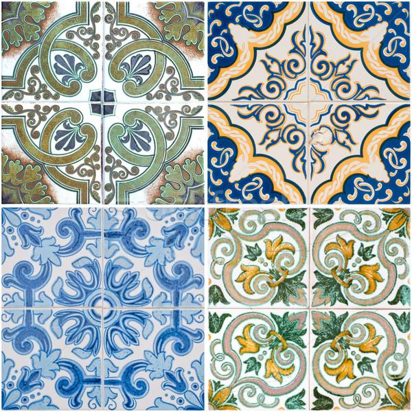 Vintage ceramic tiles Stock photo © homydesign