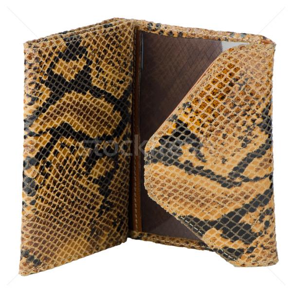 Snake skin leather wallet  Stock photo © homydesign