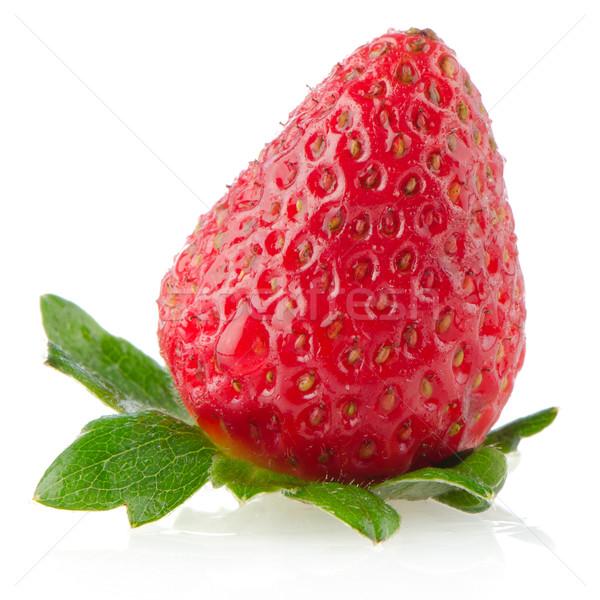 Fraîches fraise blanche réfléchissant fruits jardin Photo stock © homydesign