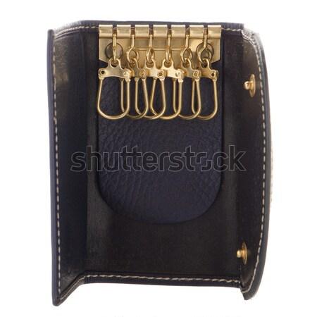 Blue leather purse  Stock photo © homydesign
