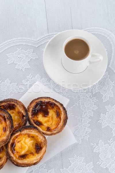 Egg tarts  Stock photo © homydesign