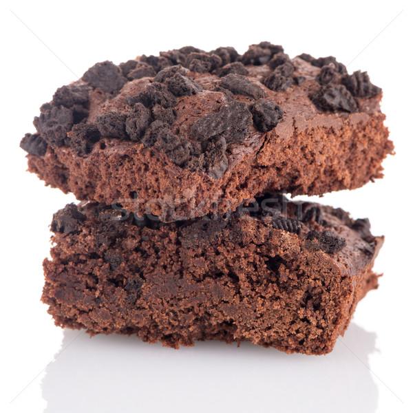 Chocolate brownie cake Stock photo © homydesign