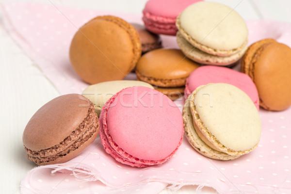 マカロン フランス語 ペストリー クッキー クリーム ストックフォト © homydesign
