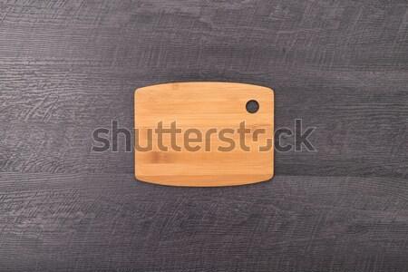 Vágódeszka fából készült textúra vacsora tábla szakács Stock fotó © homydesign