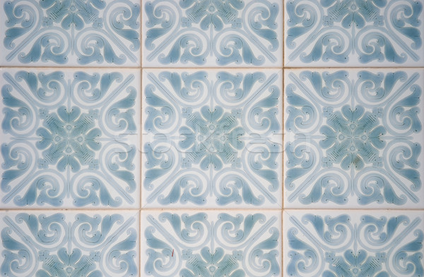 Oude tegels typisch textuur werk Stockfoto © homydesign