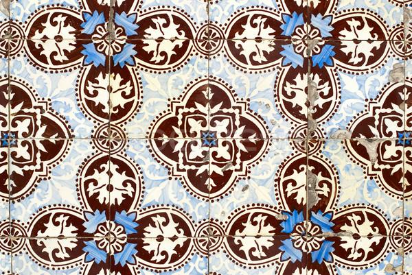 Portuguese glazed tiles 009 Stock photo © homydesign