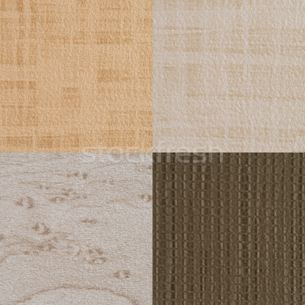 Set of brown vinyl samples Stock photo © homydesign