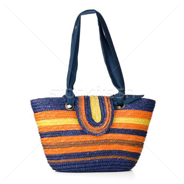Wicker shoulder bag  Stock photo © homydesign