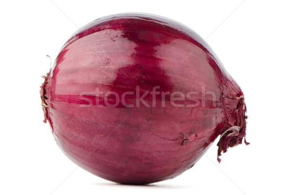 Vöröshagyma izolált fehér gyümölcs piros zöldség Stock fotó © homydesign