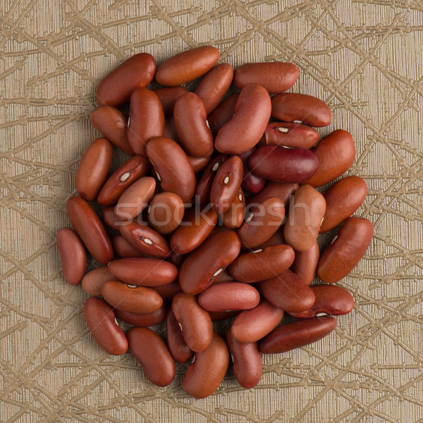 Circle of red beans Stock photo © homydesign