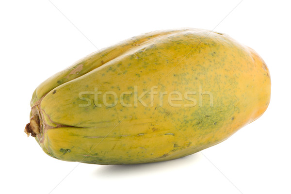 Papaya fruit on white background Stock photo © homydesign