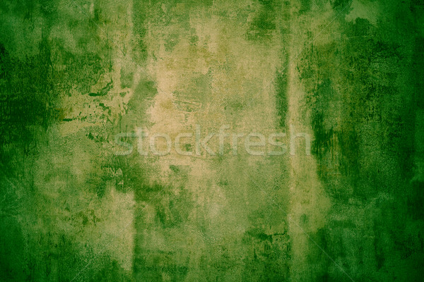 Stock photo: Green grunge textured metal