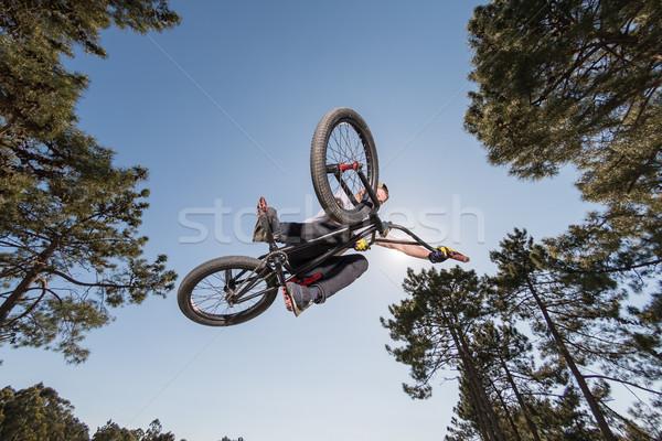 High BMX jump Stock photo © homydesign