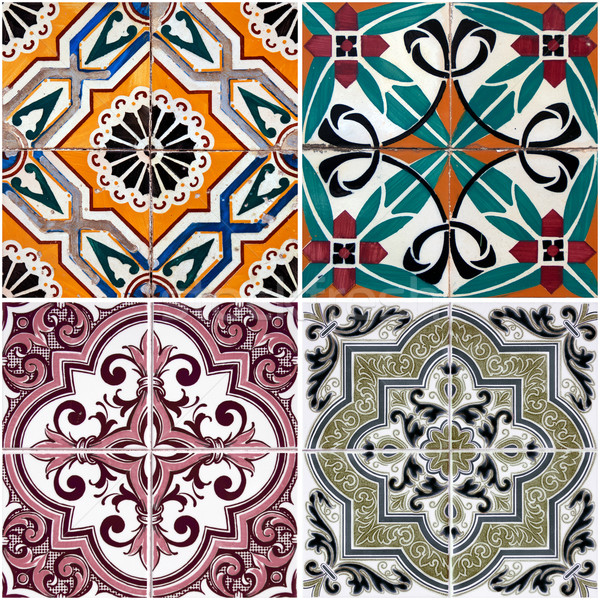 Vintage ceramic tiles Stock photo © homydesign