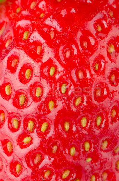 Macro fraise texture rouge alimentaire Photo stock © homydesign