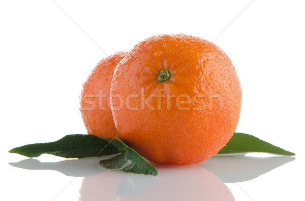 Fresco laranja isolado branco comida natureza Foto stock © homydesign