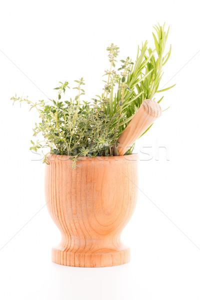 Green herb leafs  Stock photo © homydesign