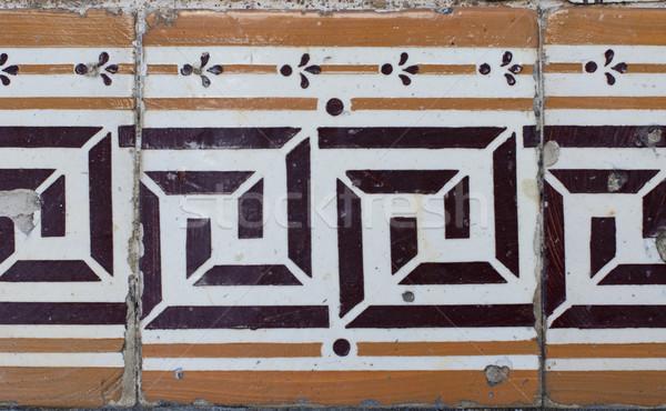 Portuguese glazed tiles 208 Stock photo © homydesign