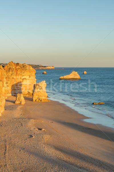 Scenic golden cliffs near Alvor Stock photo © homydesign
