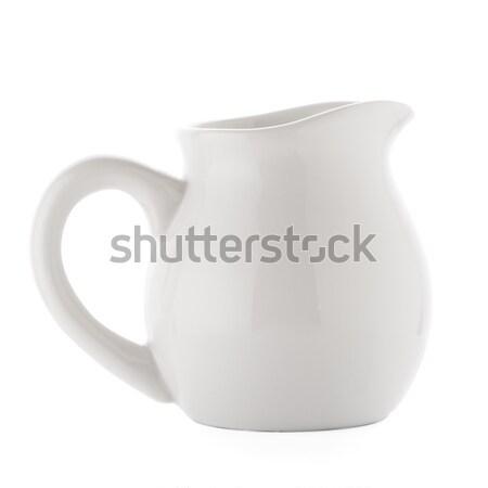 Branco cerâmico isolado fundo líquido recipiente Foto stock © homydesign