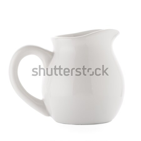 Blanche céramique isolé fond liquide contenant Photo stock © homydesign