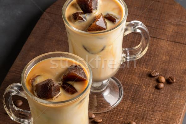 Ghiacciato caffè vetro alimentare cioccolato estate Foto d'archivio © homydesign