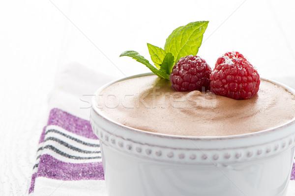 Paleo diéta stílus desszert étcsokoládé tojások Stock fotó © homydesign