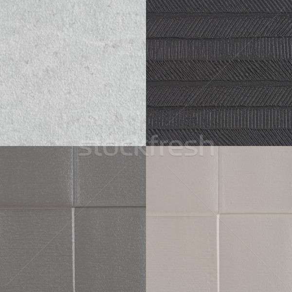Set of grey vinyl samples Stock photo © homydesign