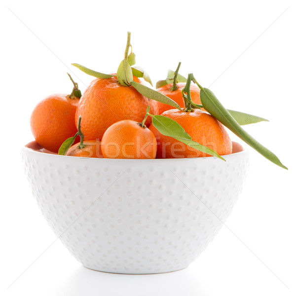 Cerámica blanco tazón aislado alimentos frutas Foto stock © homydesign
