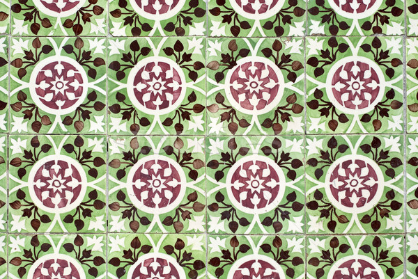 Portuguese glazed tiles 026 Stock photo © homydesign