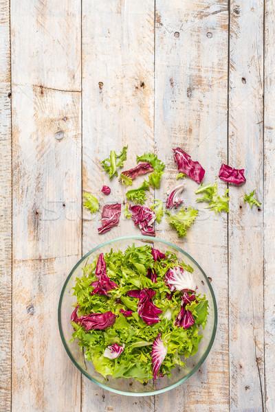 Diyet gıda taze marul salata Stok fotoğraf © homydesign