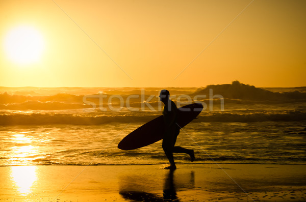 Surfer running Stock photo © homydesign